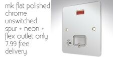 mk flat polished chrome unswitched spur + neon + flex outlet only 7.99
