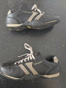 """Sketchers Black Leather Memory Foam Shoes Size 9. """"GREAT CONDITION"""""""