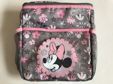 Diaper Bag Lunch Tote Small Disney Minnie Gray Pink Flowers NWT