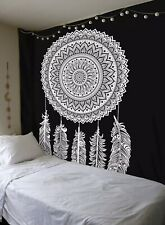 Indian Twin Boho Cotton Dream Catcher Tapestry Wall Hanging Hippie Throw Mandala