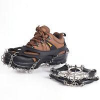 19 Teeth Ice Snow Crampons Anti-slip Climbing Gripper Shoe Covers Spike Cleats