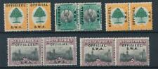 [55222] South-West Africa Official good lot bilingual pairs MH VF stamps
