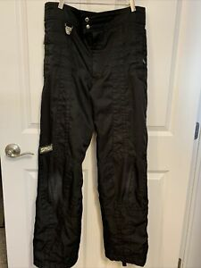 MEN'S SPYDER SNOWBOARD SKI PANTS Size L Zip Sides Pant Thinsulate Black