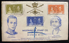 1937 Victoria Seychelles  First Day Cover FDC King George VI Coronation KG6