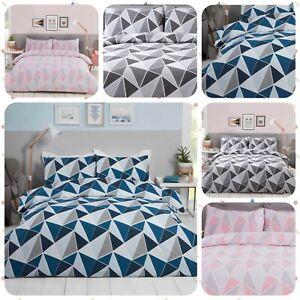 Bedding Heaven® GEOMETRIC DUVET COVER - LEO - Pink, Navy or Grey