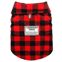 British Plaid Dog Vest Chihuahua Clothes Pet Puppy Fleece Padded Coats Jacket