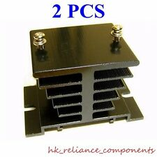 Aluminum Heat Sink ( 2 pcs) THICK Material for 10A Solid State Relay 130g 4.6Oz