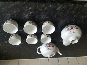 Chinese tea set - unwanted gift. Six cups and teapot.