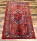 """3'8""""X6'9"""" Handmade wool Authentic Vintage Traditional Malayer Oriental area rug"""