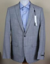 $425 BAR III Men's GRAY SOLID WOOL SLIM FIT SUIT JACKET SPORT COAT BLAZER 40L