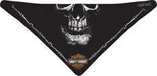 Harley Davidson Bandana Black Deadly Jaw 3 In 1 Convertible bandana facemask
