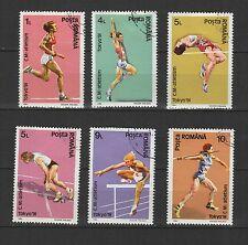 athlétisme à Tokyo ROUMANIE 1991 série de 6 timbres oblitérés / T1710