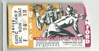 1954 11/6 college football ticket stub USC Trojans v Stanford Indians POOR/FAIR
