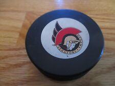 Vintage 90s OTTAWA SENATORS GAME Puck JOHN ZIEGLER President of NHL (1977-92)