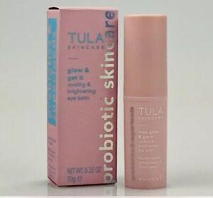 Tula Skincare Rose Glow & Get it Cooling & Brightening Eye Balm .35oz New in Box