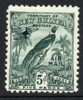 New Guinea 5d Air Mail Stamp c1932-34 Mounted Mint Hinged (3038)