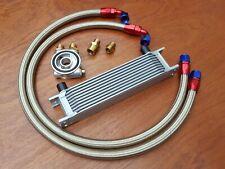 Renault 5 Gt Turbo Aceite Enfriador Kit 10 Fila 235MM Acero Trenzado Tubos +