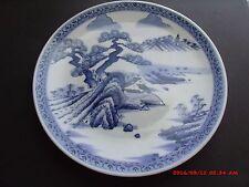 "ANTIQUE JAPANESE ARITA PORCELAIN 11"" CHARGER SIGNED UNDER GLAZE BLUE & WHITE"