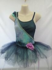 Teal Blue Green Purple Ballet Tutu Dance Costume Large Child LC