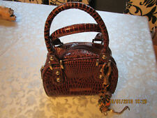 CUTE LITTLE BROWN BAG CROC LEATHER EFFECT CARPISA ITALY