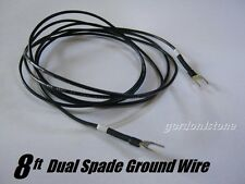 New Custom 8' Dual Spade Turntable Ground Wire