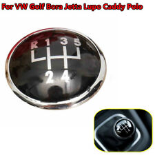 5 Speed Gear Shift Knob Stick Emblem Badge Cap Cover For VW Golf Bora Jetta Polo