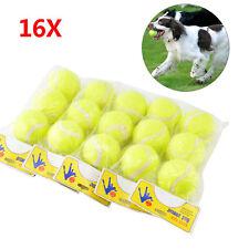 16 X TENNIS BALLS SPORT PLAY CRICKET DOG TOY BALL OUTDOOR FUN BEACH LEISURE NEW