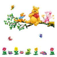 LARGE DISNEY WINNIE THE POOH 2 PCS WALL STICKER  NURSERY/KIDS/GIRLS/BOYS ROOM