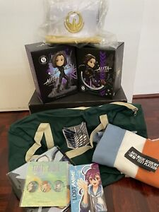 NEW Lootcrate ALITA BATTLE ANGEL Anime Attack On Titan Box