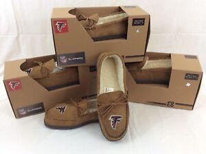 Men's Atlanta Falcons Moccasin Slippers By FOCO