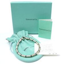 Auth Tiffany & Co. Aztec Etched Bracelet GERMANY 925 Sterling Silver #K160716