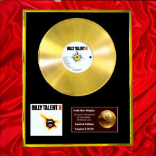 BILLY TALENT II CD GOLD DISC RECORD VINYL LP FREE P+P!