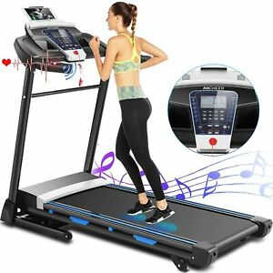 ANCHEER Treadmill, 3.25hp, App Control, Folding Treadmill Machine for Home with
