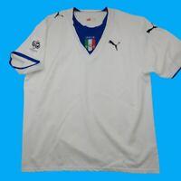 Puma Italia Mens XL White 2006 Fifa World Cup Soccer Football Jersey Shirt Italy