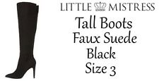 Ladies Boots Little Mistress Ladies Tall Boots Black Size 3 New Free Delivery