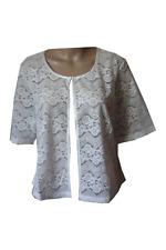 Damen Shirt Jäckchen Blazer Spitze transparent Größe 46 48 59 52 54  0073