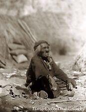 Elderly Yokut Man, Tule River Reservation, California 1903 -Historic Photo Print