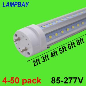 """V shaped LED Tube Lights 24"""" 36"""" 48"""" 60"""" 70"""" T8 Retrofit Bulb Super Bright Lamp"""