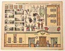 Imagerie D'Epinal 15 Serie de Guerre Une Salle d'Ambulance Croix-Rouge inv.737