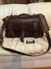 New ? Saddleback Leather Co. Side Pocket Duffle Bag Chestnut - See Description