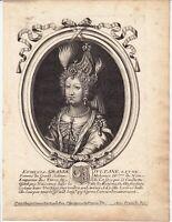 Portrait XVIIe Emetullah Rabia Gülnuş Mehmed IV Turquie Turkey Ottoman Empire