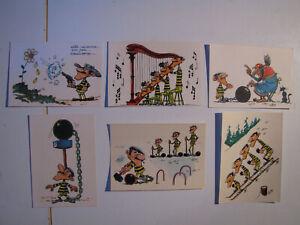MORRIS LOT 6 cartes postales LES DALTON les personnages du journal de spirou TTB