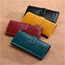 SENDEFN Fashion Women Genuine Leather Long Wallet Money Card Holder Clutch Purse
