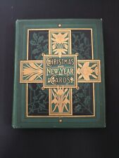 More details for victorian 48 page christmas & new year card & scrap album c1880