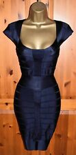 Stunning FRENCH CONNECTION Midnight Blue Spotlight Knits Bodycon Dress UK 16