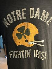 Notre Dame Fighting Irish Blue Extra Large T-Shirt Banner 47