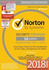 Norton Internet Security Premium 10 PC Geräte Lizenz 2018/2019 inkl.100 GB *NEU*