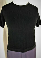 Womens Ladies Black Knitted Jumper/Sweater Top for all occasions short sleeves