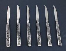 ONEIDA stainless ISABELLA, 6 steak knives, Shiny & bright! LotAa2