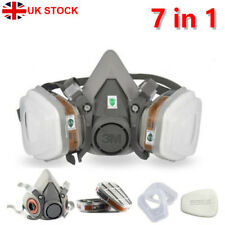 UK 3M 6200 Medium Dust Gas Mask Half Facepiece Spray Paint Protection Respirator